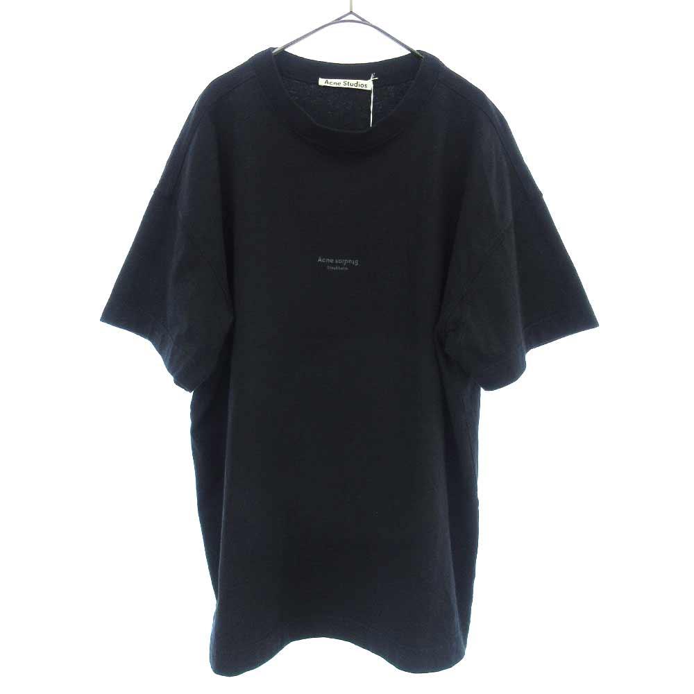 フロントロゴプリントクルーネック半袖Tシャツ