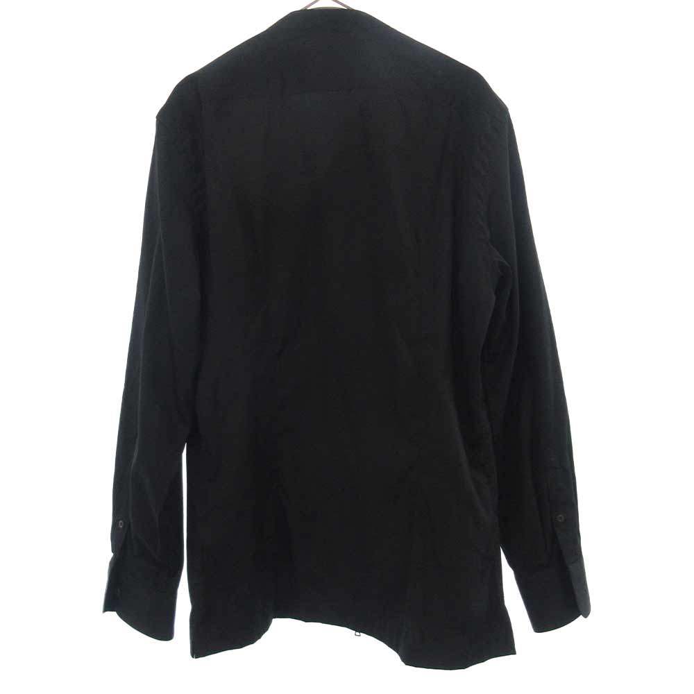 スタンドカラージップアップ長袖シャツ
