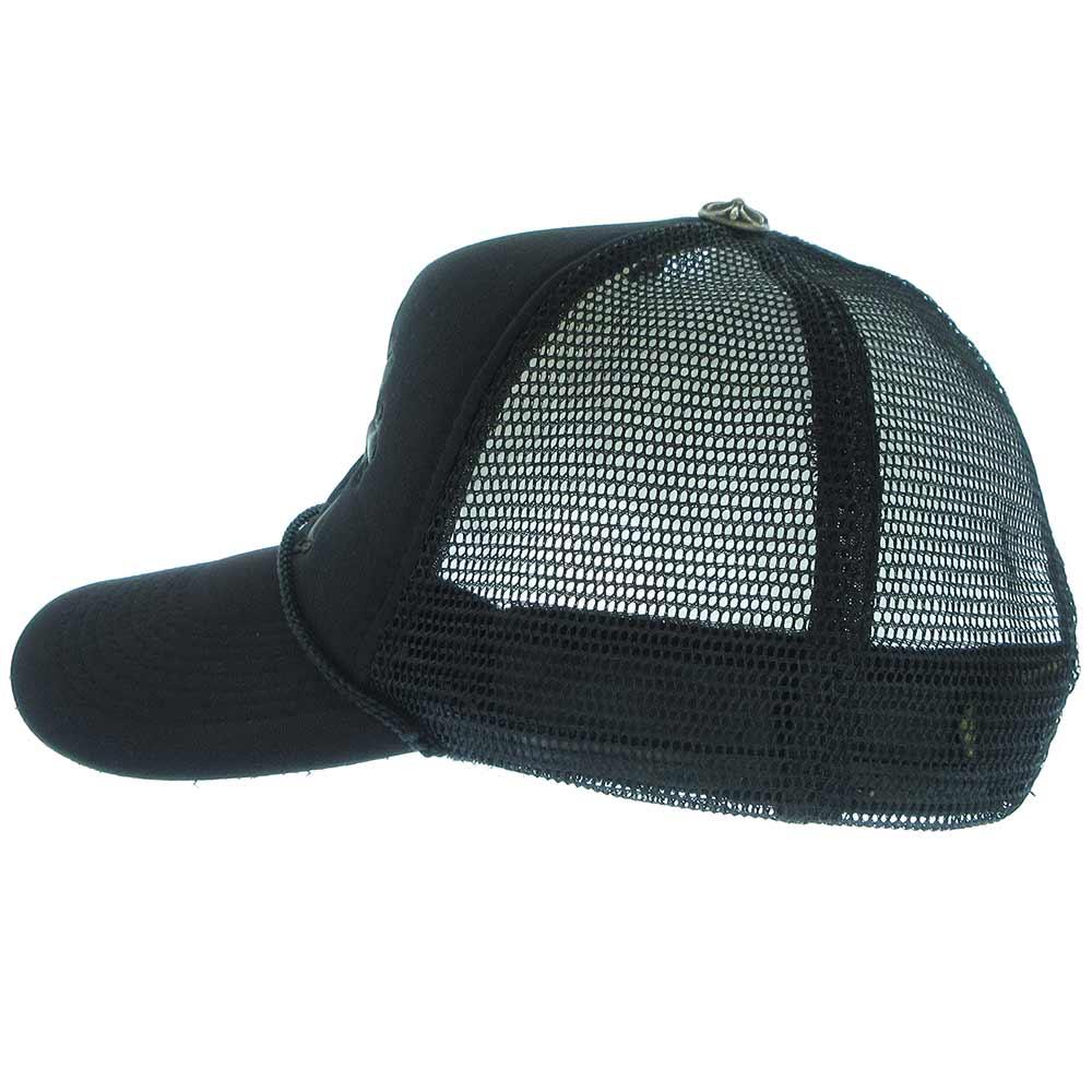 セメタリークロス レザー パッチ メッシュ トラッカー キャップ 帽子