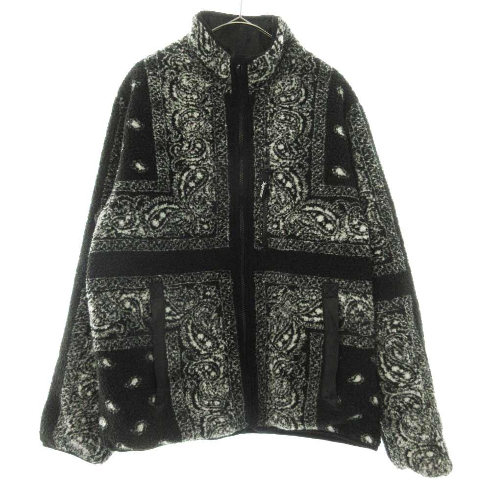 Reversible Bandana Fleece Jacket リバーシブル バンダナペイズリー柄フリースジャケット