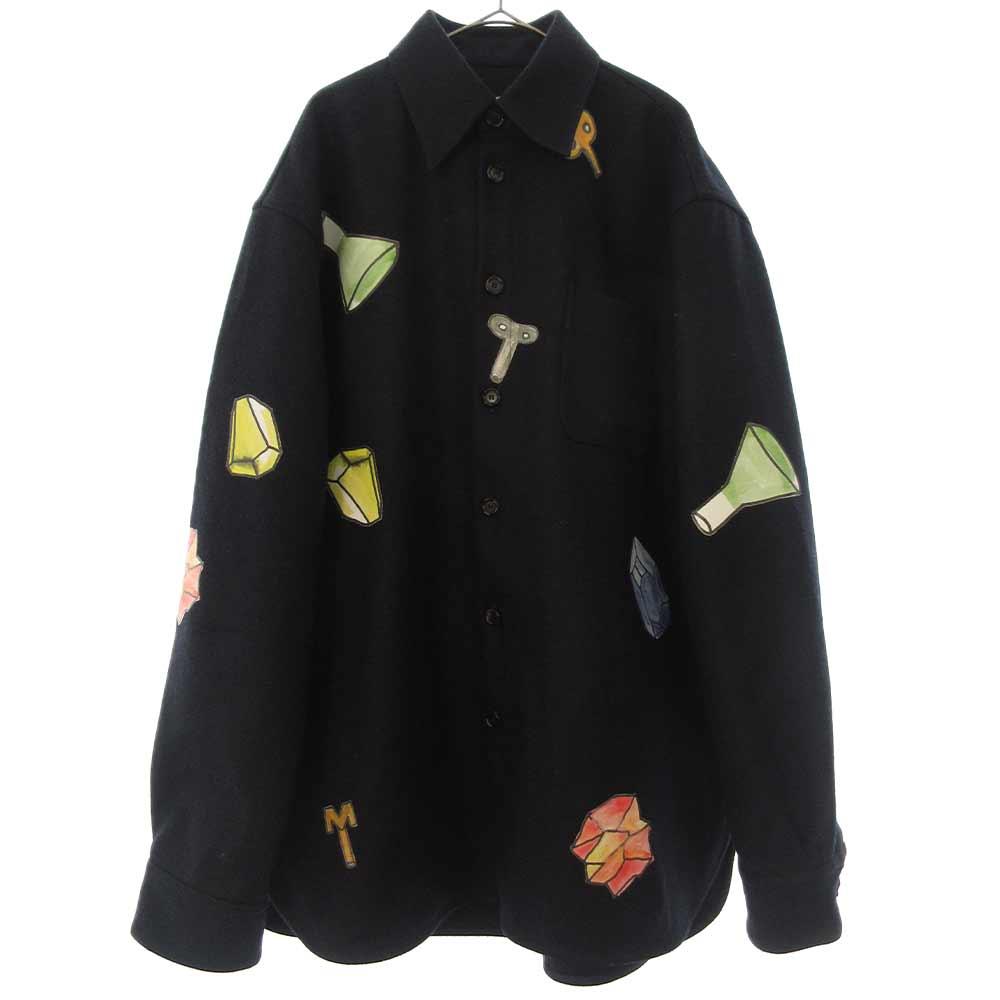 ×FRANK NAVIN WOOL SHIRT JACKET 日本限定 ×フランク・ナヴィン ウールシャツジャケット コート