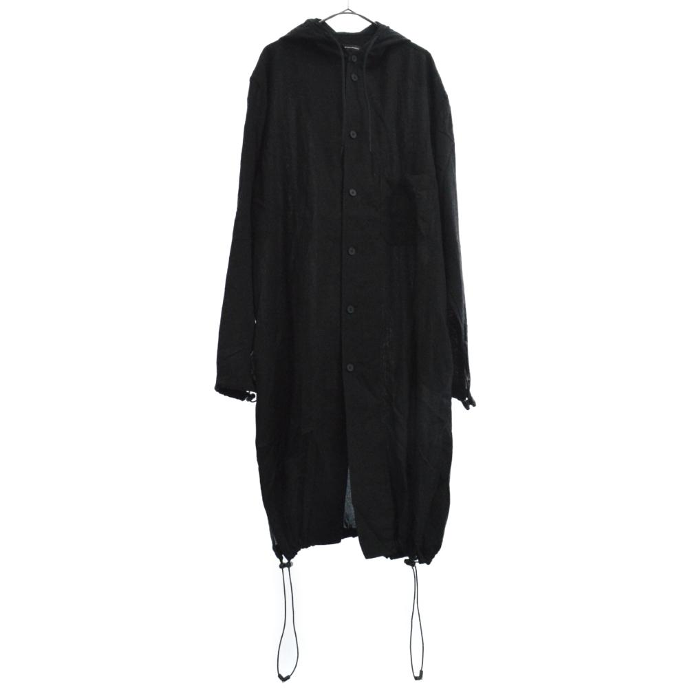 Hooded Long Shirt フード付き 長袖ロングシャツ