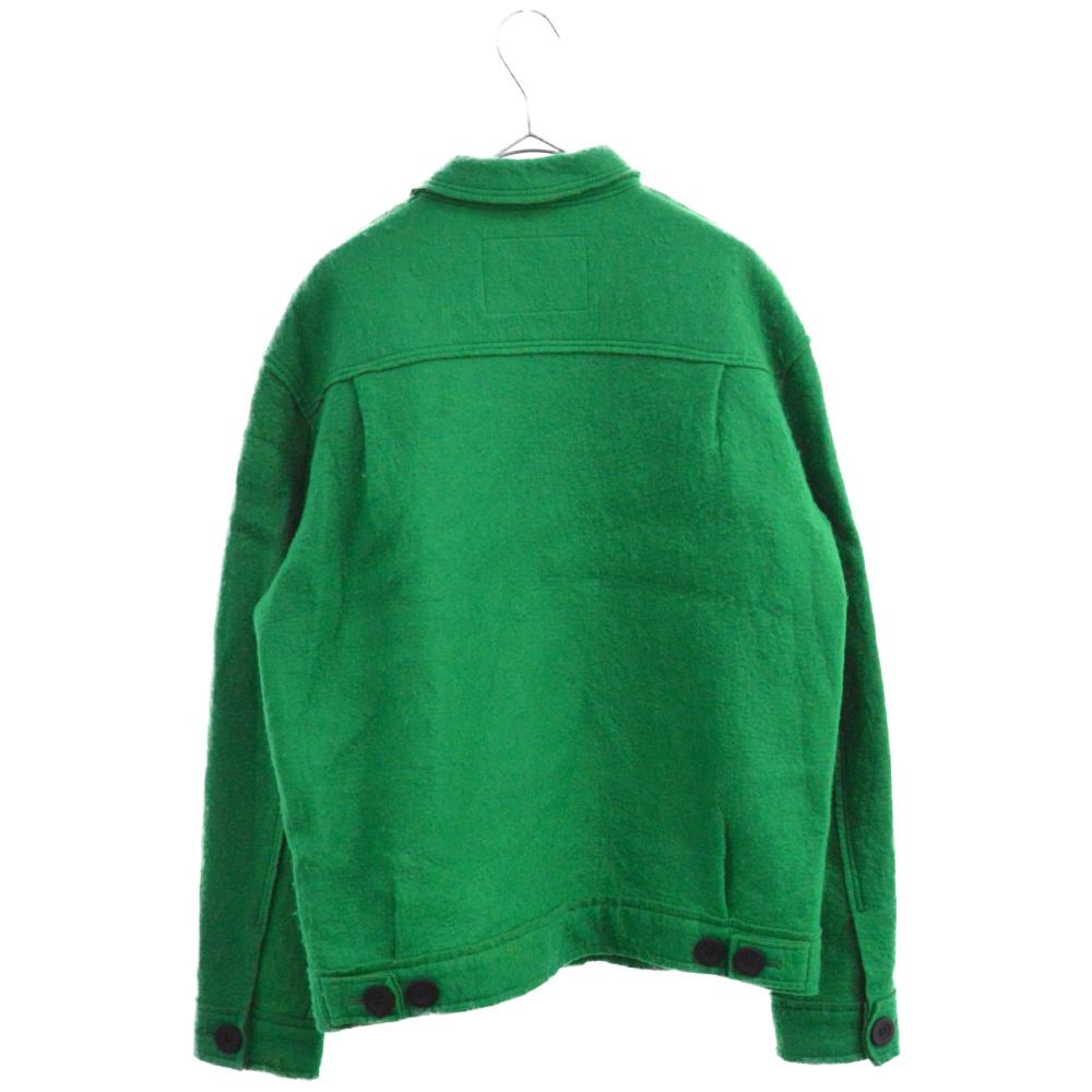 カットオフレーヨン混ウールジャケット