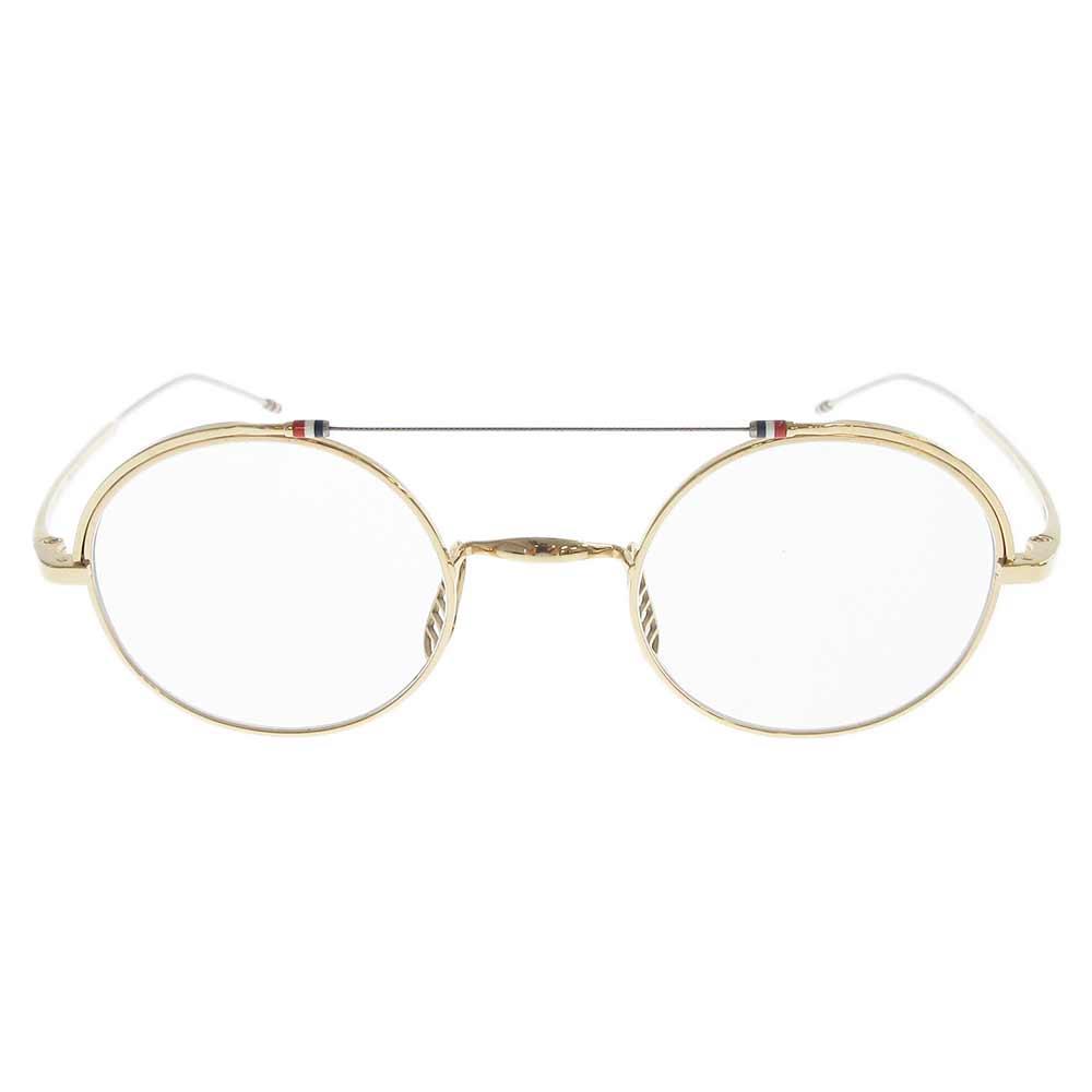 TBX910-01 GLD ワイヤーブリッジラウンドグラス 眼鏡