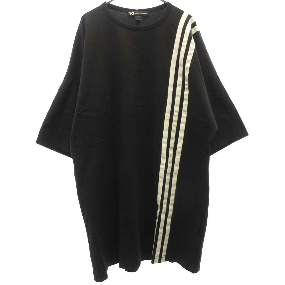 3-STRIPES TEE ストライプラインクルーネック半袖Tシャツ