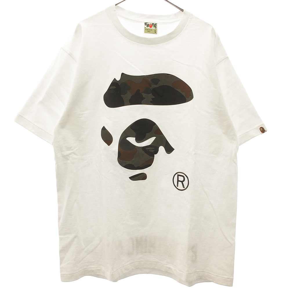 BAPE サルカモフェイスプリント半袖Tシャツ