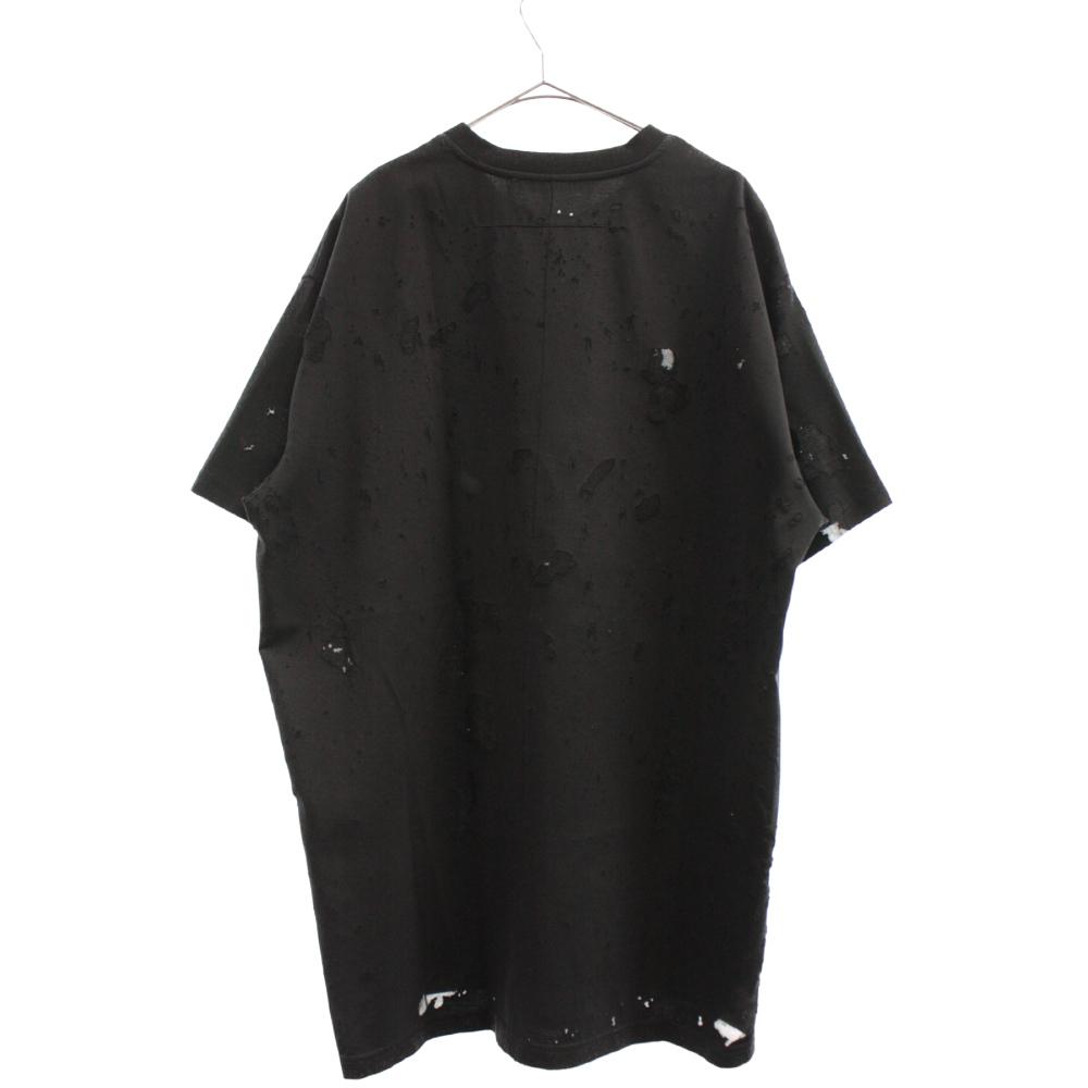 デストロイダメージ加工クルーネック オーバーサイズド半袖Tシャツ