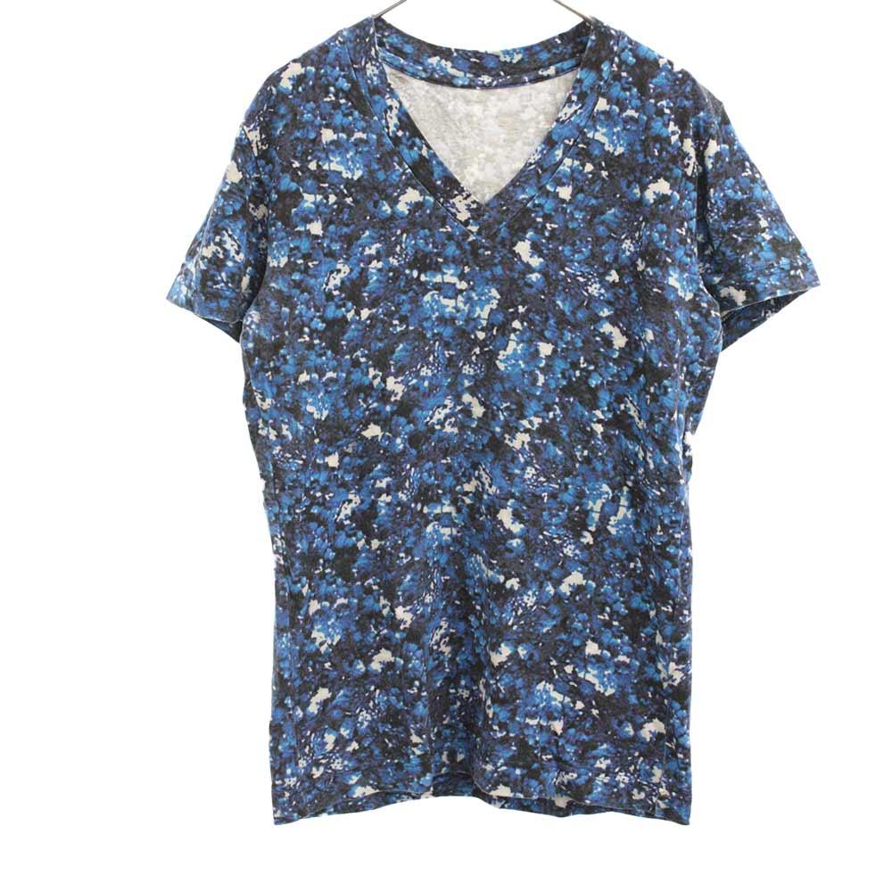 ORIGINAL FLOWER V S/S フラワー総柄Vネック半袖Tシャツ