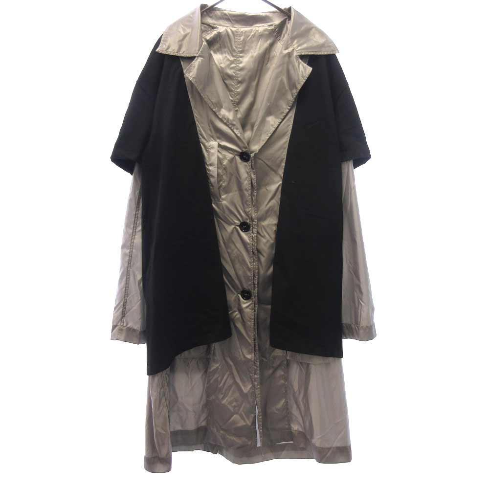 NYLON T-SHIRT DOCCING COAT フォトTシャツドッキングメタリックナイロンコート