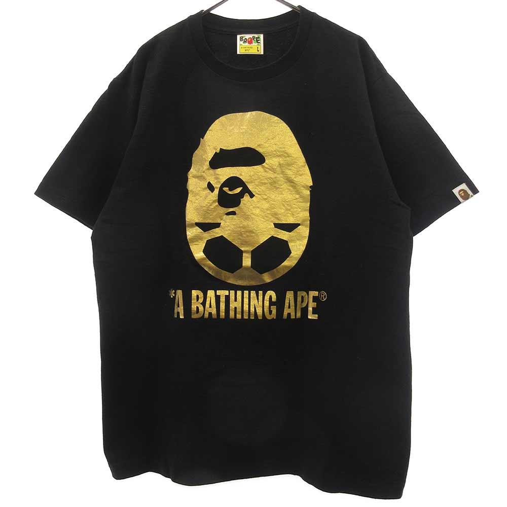 ゴールドサルカモロゴプリントTシャツ