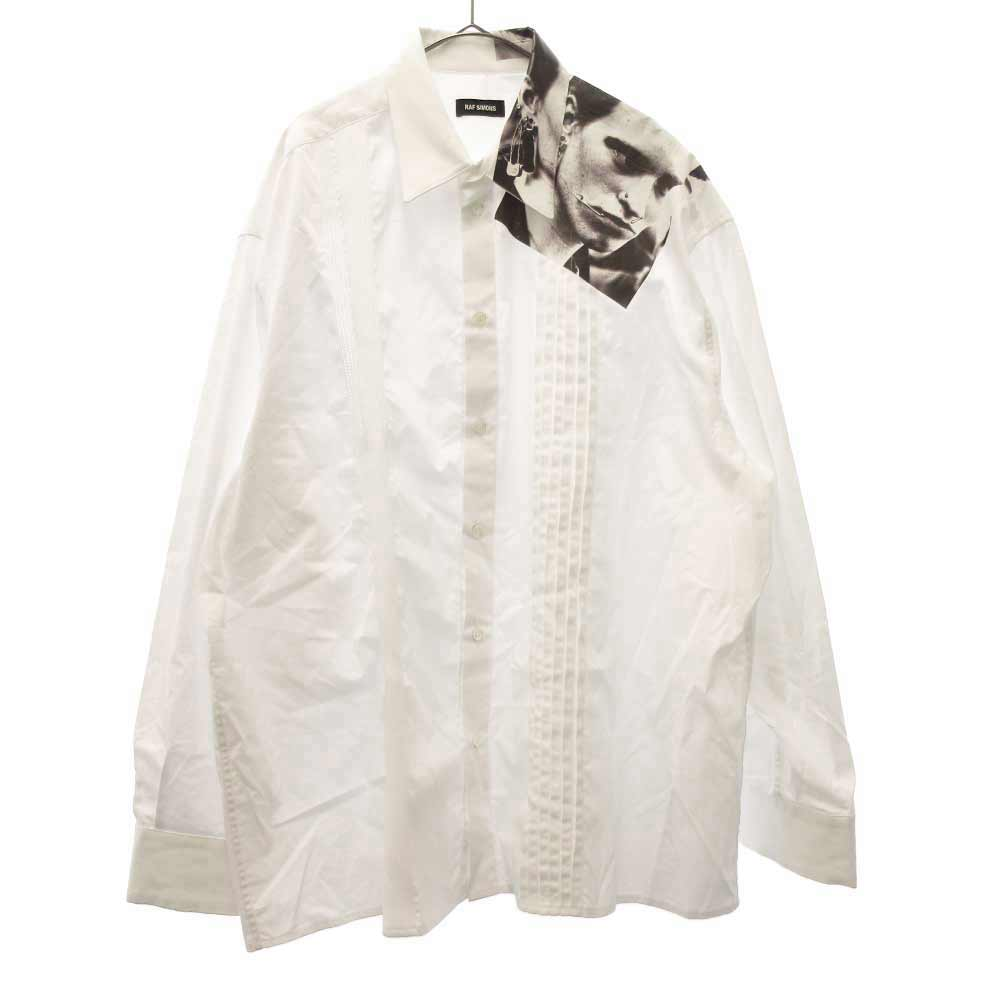 CROPPED SHIRT WITH ASYMMETRICAL DETAIL PUNKETTE フォトプリント プリーツ長袖シャツ