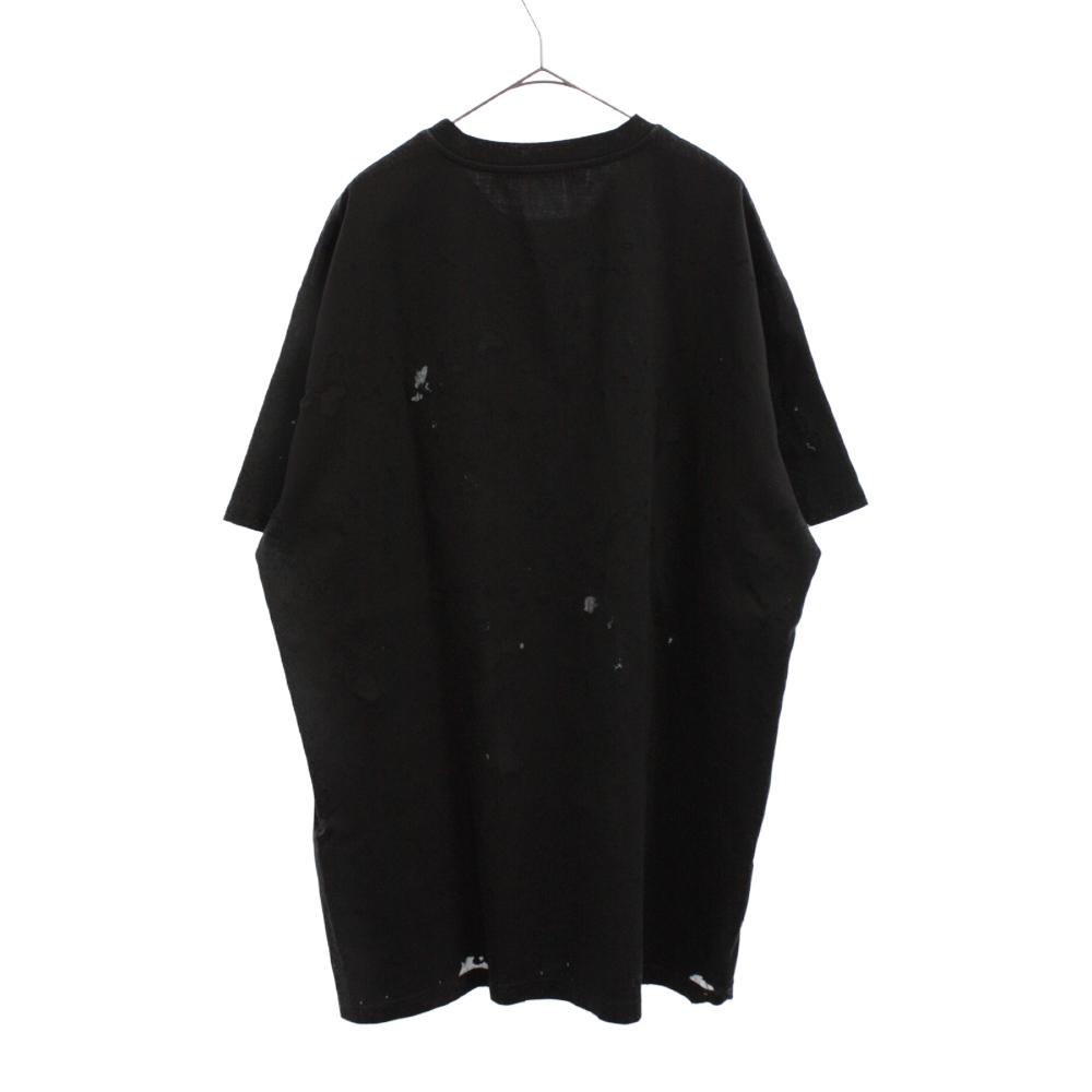 デストロイ加工 ロゴプリント半袖Tシャツ