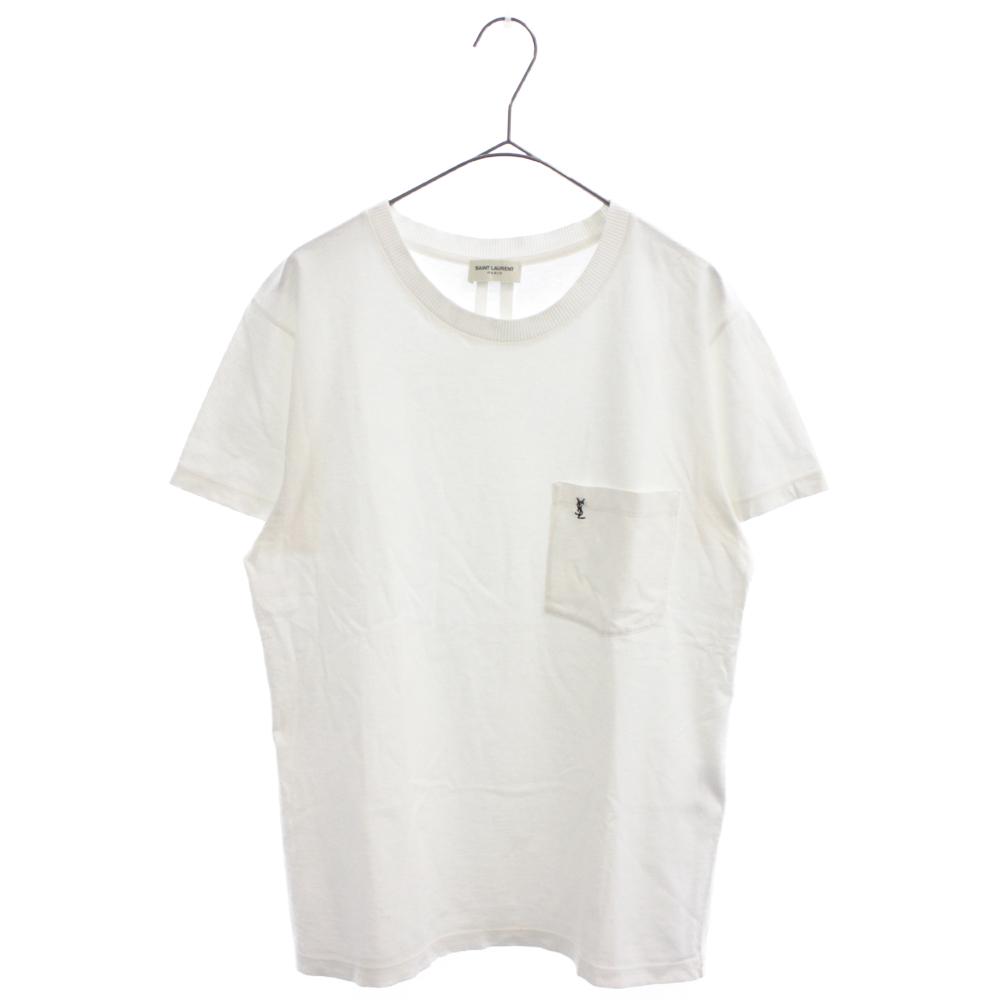 カサンドラロゴ刺繍胸ポケット半袖Tシャツ