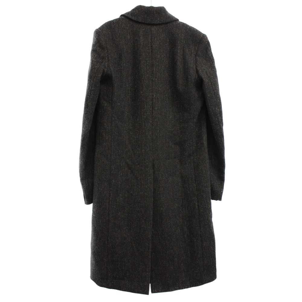 シングルカラー ウールコート