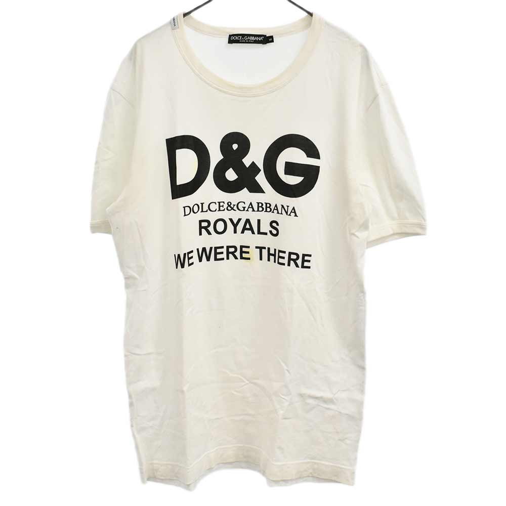 G8HR8Tフロントロゴプリントクルーネック半袖Tシャツ