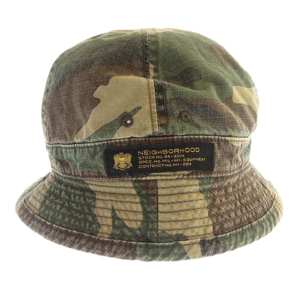 MIL-BALL/C-HAT TIGER STRIPE タイガーカモ柄ウォッシュ加工バケットハット 帽子