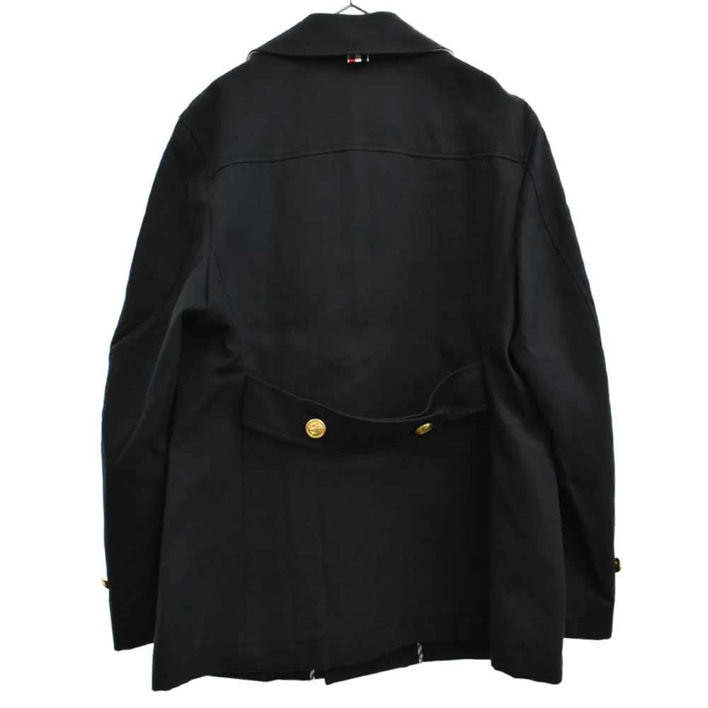 カラートリコロール金ボタンPコート ジャケット