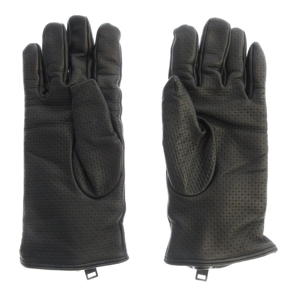 ジップ付きレザーグローブ手袋