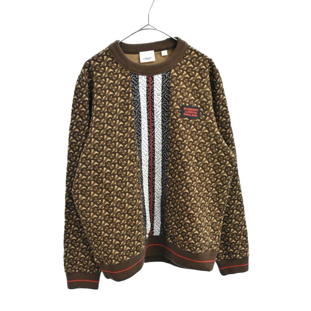 Monogram Stripe Print Cotton Sweatshirt 8018240 バーバリー モノグラムストライププリントコットンスウェットシャツ トレーナー 総柄ロゴ