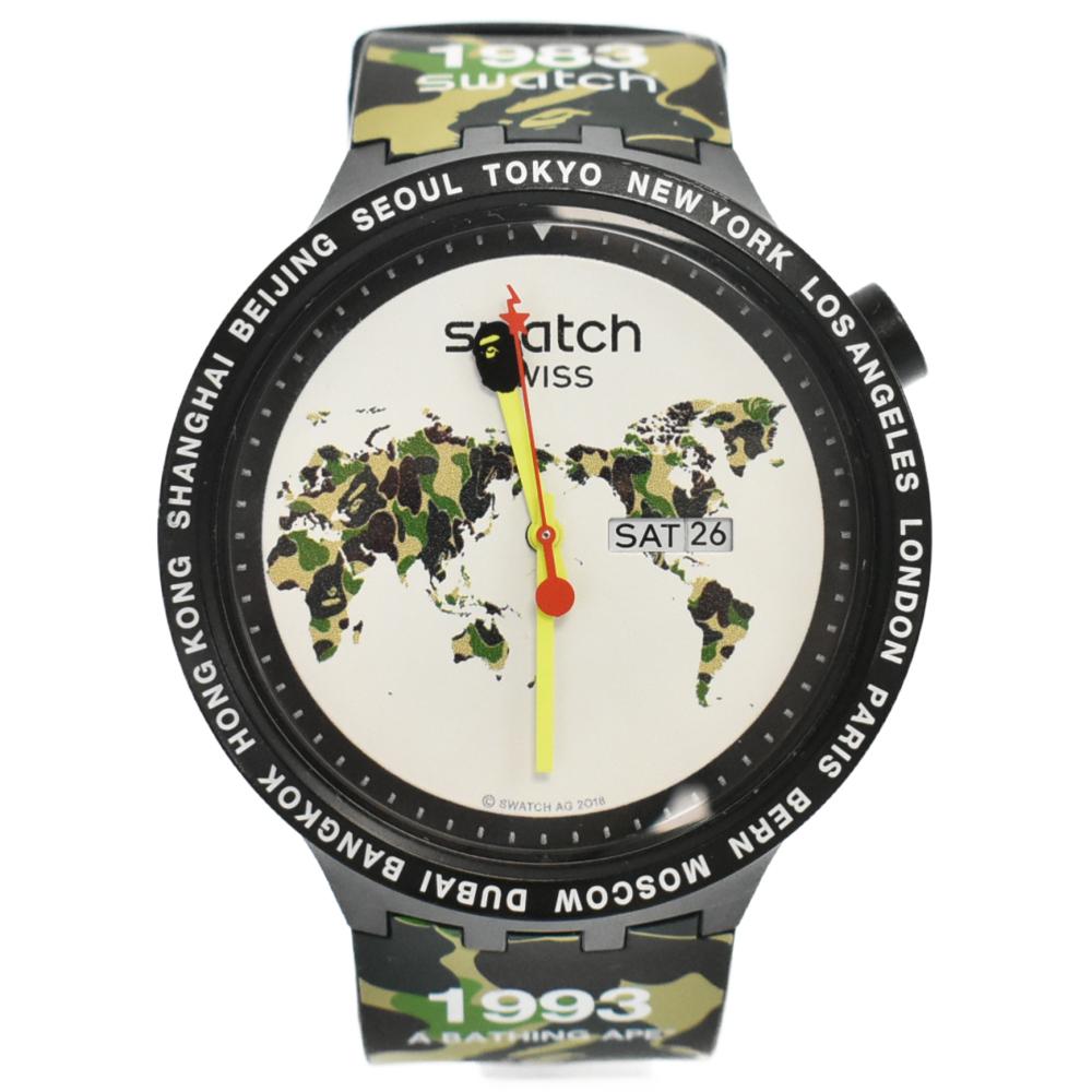 ×Swatch スウォッチ クオーツ ウォッチ 腕時計