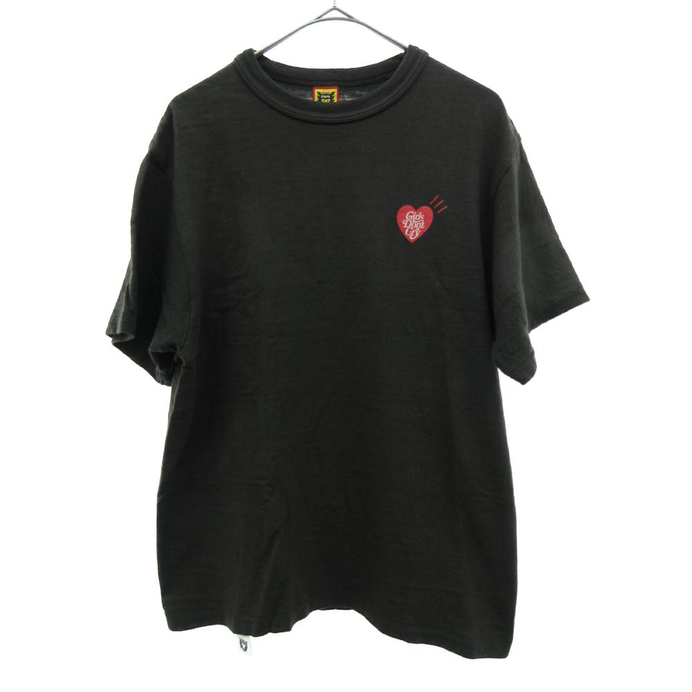 ×HUMAN MADE ヒューマンメイド 伊勢丹限定バックロゴプリント半袖Tシャツ
