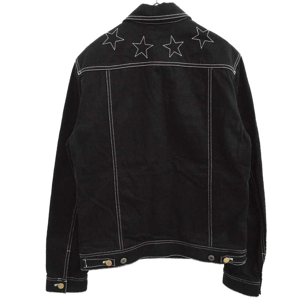 Stitched Detail Denim Jacket スターステッチデニムジャケット