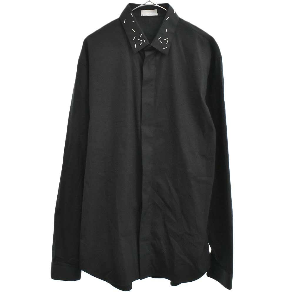 ステープラー ホチキス装飾 長袖シャツ