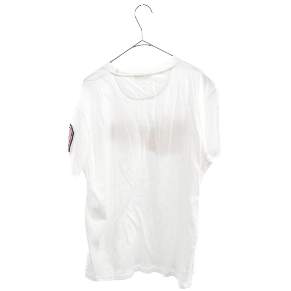 ロゴパッチ付き 半袖 クルーネック Tシャツ