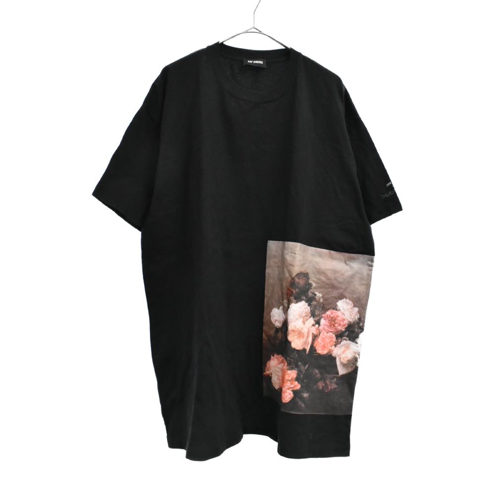 権力と美学 ローズフォトプリント半袖Tシャツ