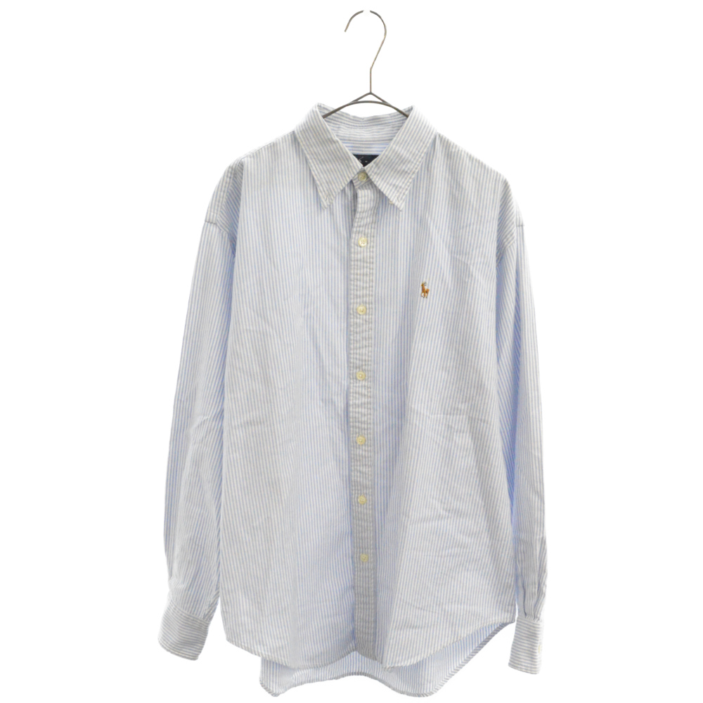 ストライプ柄ボタンダウンシャツ