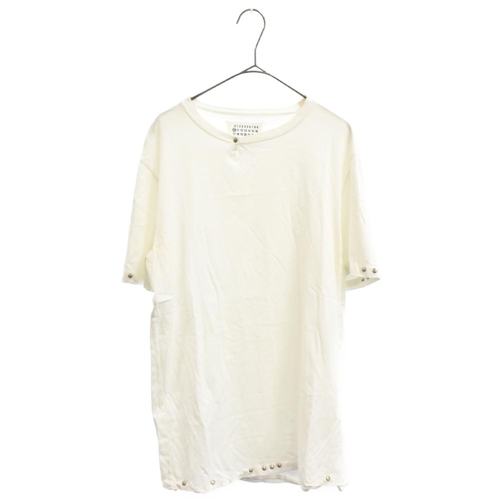 スタッズ装飾半袖Tシャツ