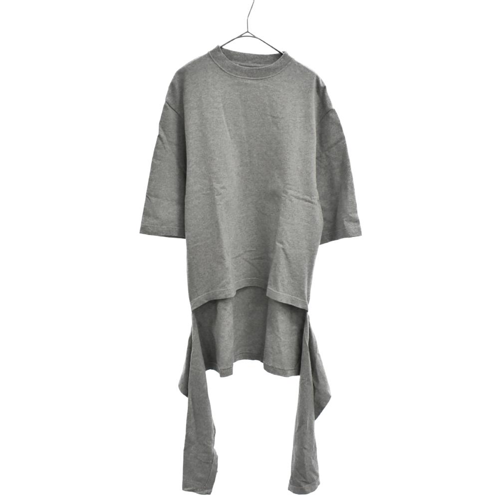 変形カッティングデザイン半袖Tシャツ