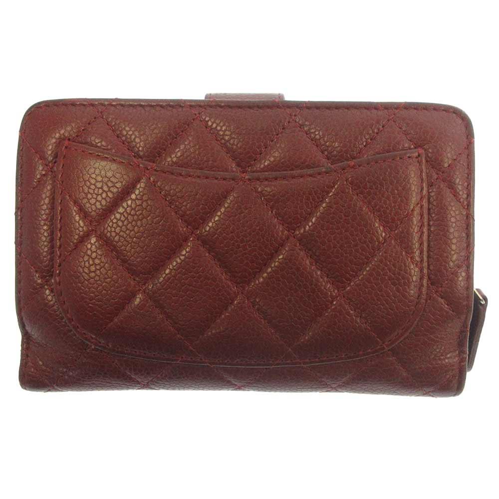 キャビアスキンマトラッセコンパクトウォレット 財布