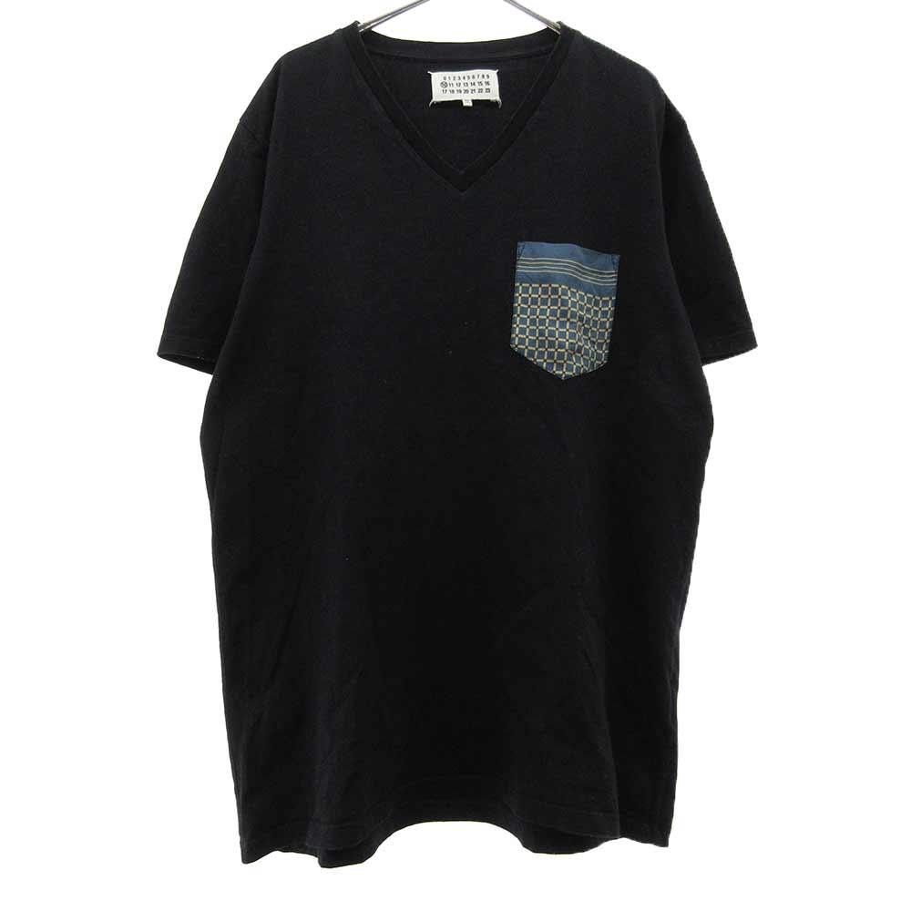 ポケットデザインVネック半袖Tシャツ