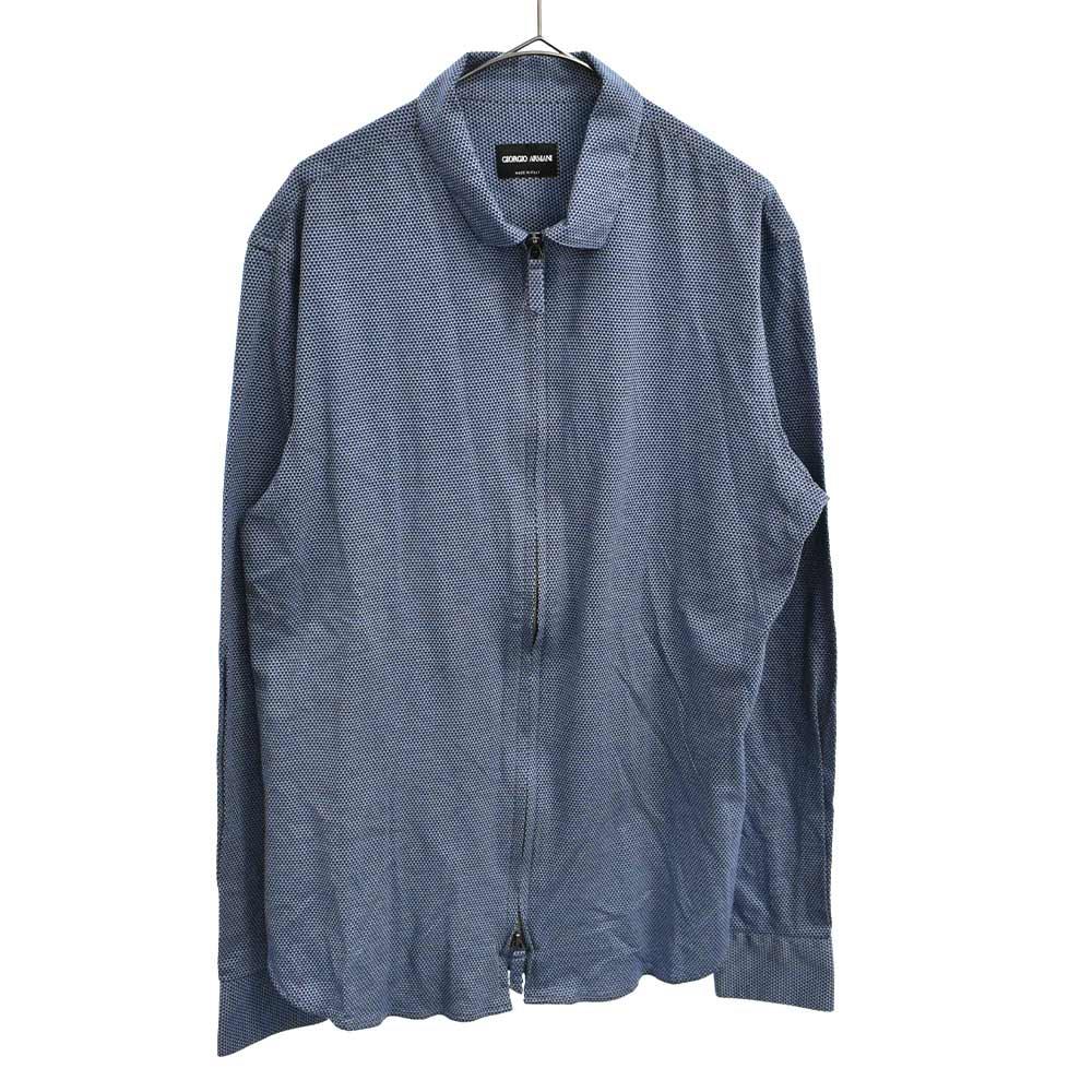 ウール ジップアップ 長袖シャツ