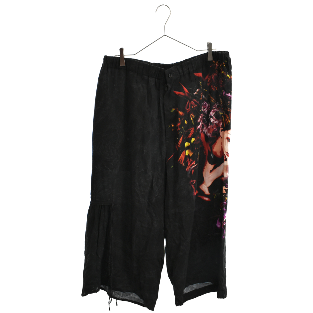 BLACK Scandal Gather Drawstring Pants Print A イージーパンツ
