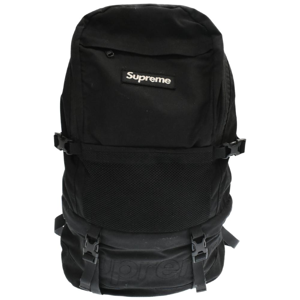 Contour Backpack メッシュ切り替えボックスロゴナイロンバックパック