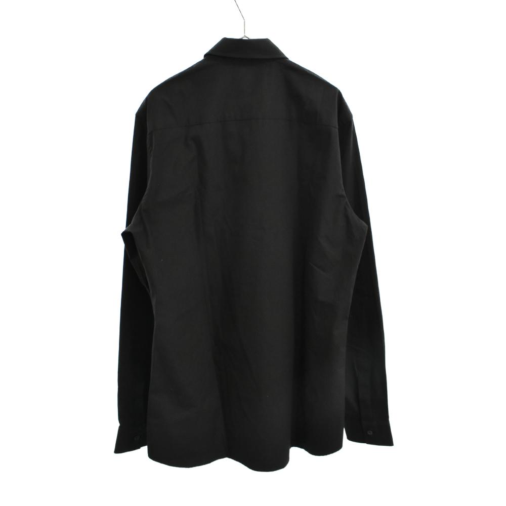 GIVENCHY SPLIT エンブロイダリー コットンシャツ ロゴ刺繍