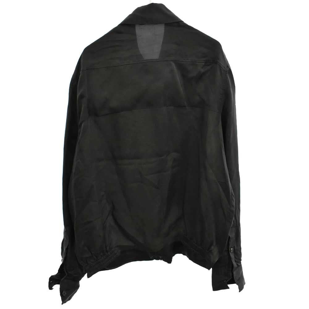 MALCOM ジップアップ ドライバーズジャケット チャコールグレー