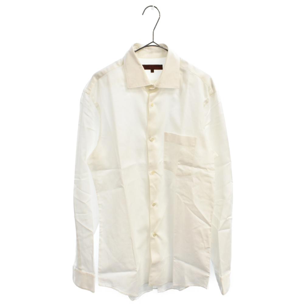 ポケット付プレーン長袖シャツ ワイシャツ