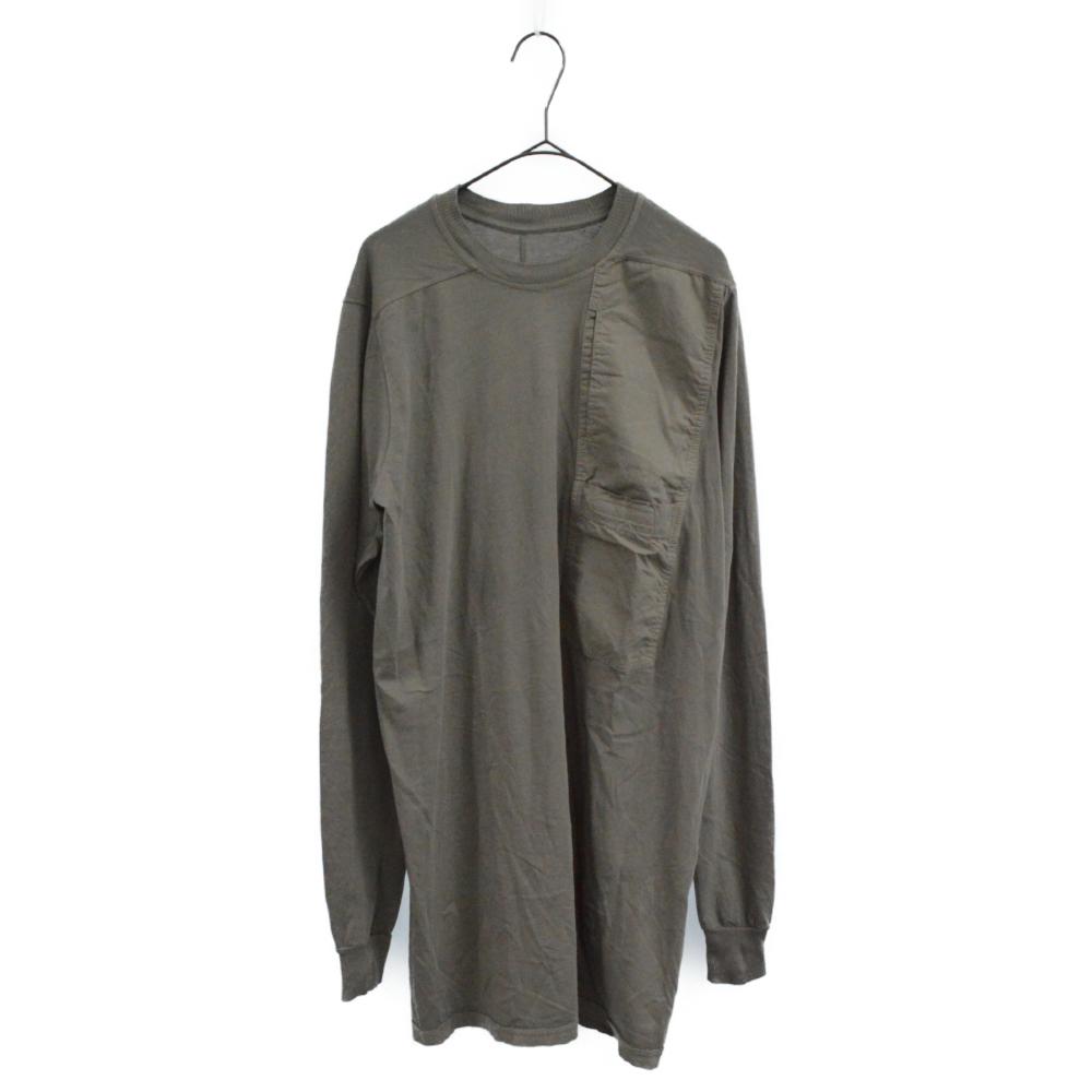 Long Sleeve Pocket Tee フロントポケットクルーネック長袖カットソー ダストグレー
