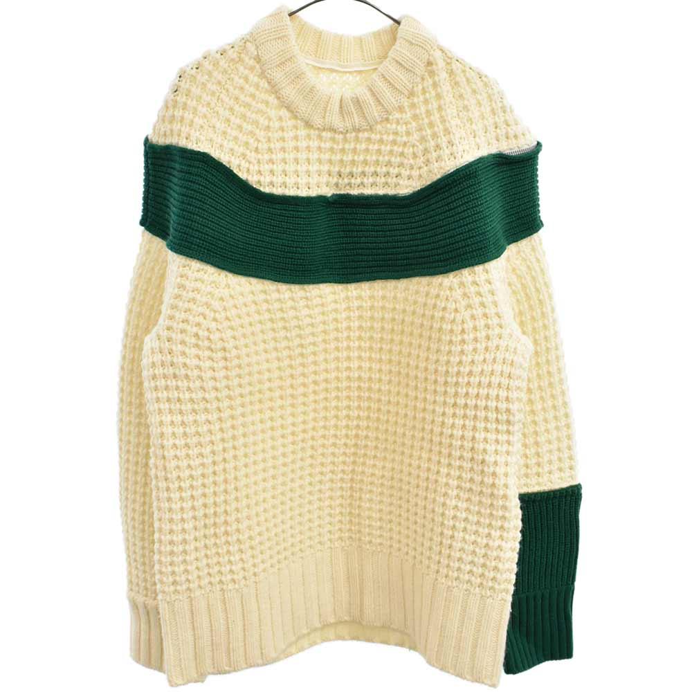 カラーコンビジップニットセーター