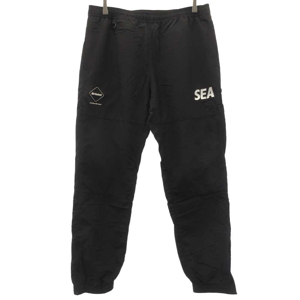 ×WIND AND SEA TRAINING JERSEY LONG PANTS ×ウィンダンシー トレーニングナイロンロゴパンツ