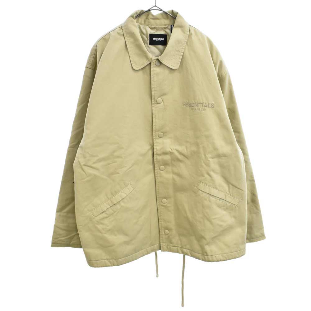 ロゴ刺繍コットンワークジャケット