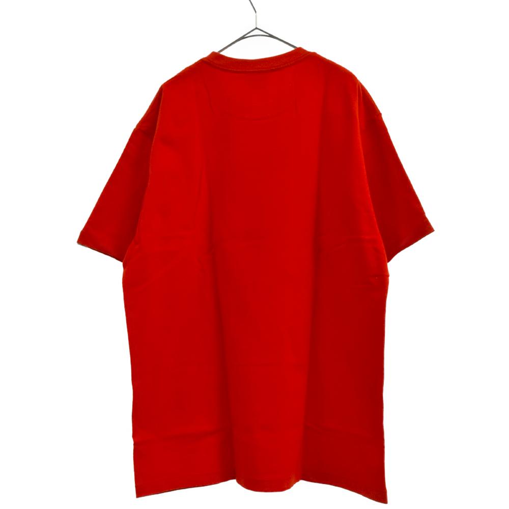 BUSY WORKS フロントデザイン半袖クルーネックTシャツ