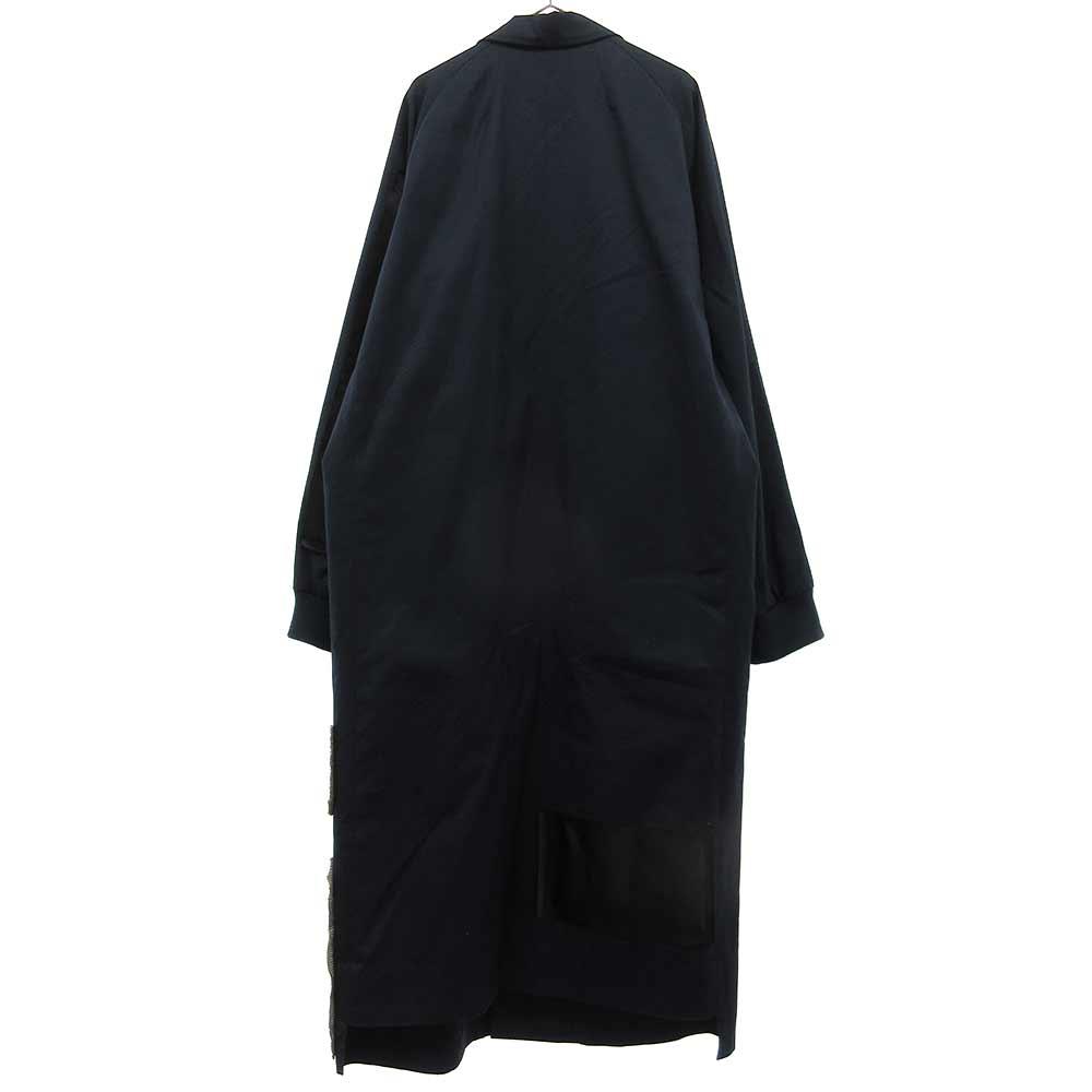 Jaquard chester coat パッチデザインチェスターコート