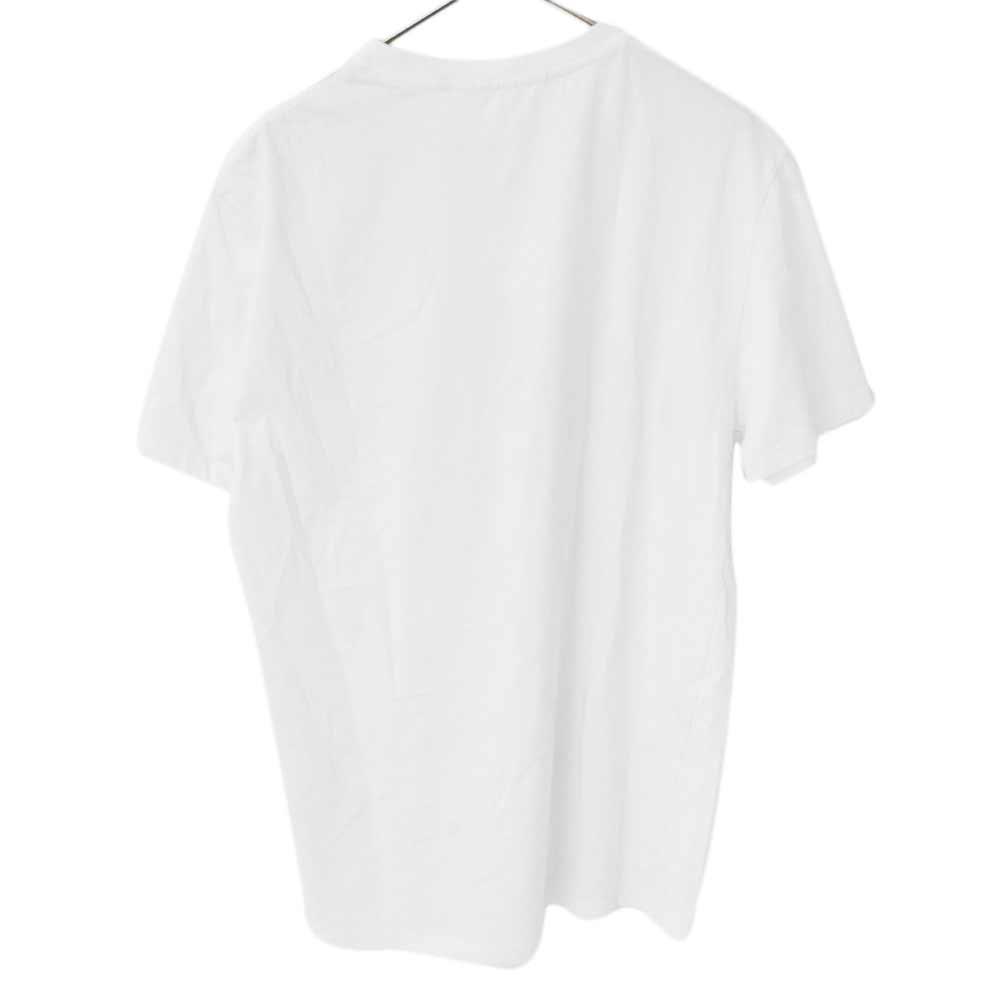 フロントサンダーボルト落書きプリント クルーネック半袖Tシャツ