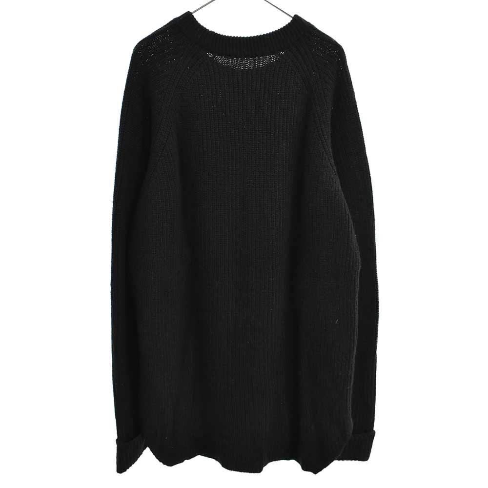 V字ガゼット付ルーズニットセーター