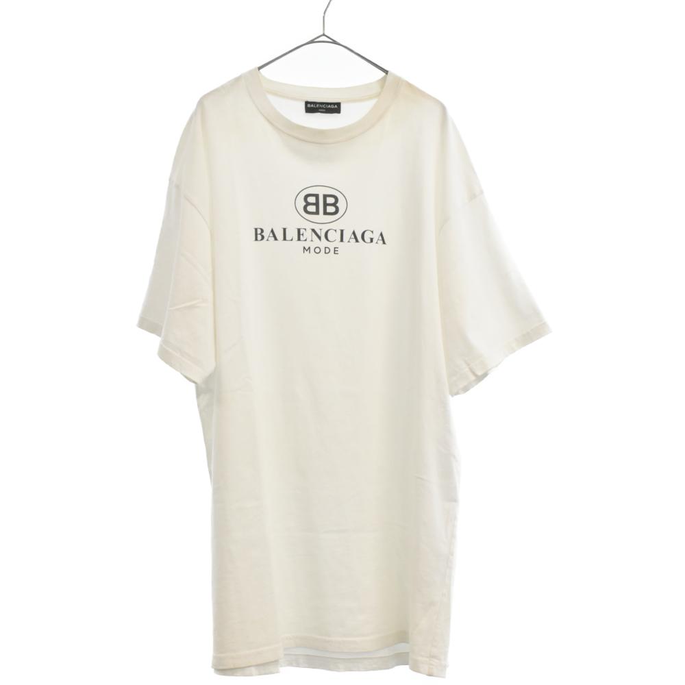 BBロゴプリントクルーネック半袖Tシャツ