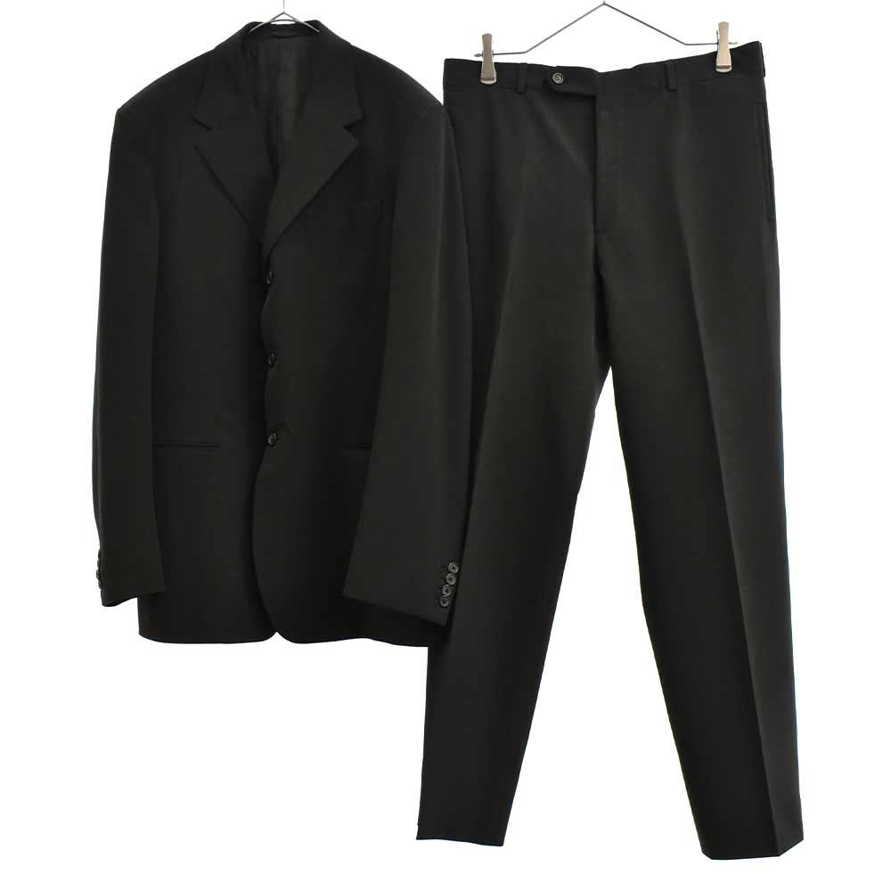 ストレッチセットアップスーツ ダークブラウン テーラードジャケット スラックスパンツ